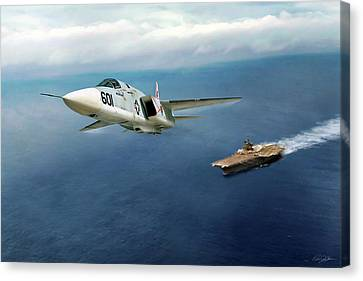 Rvah-1 Smokin Tigers Canvas Print by Peter Chilelli