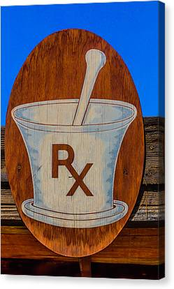 Drugstore Canvas Print - Rx Sign by Garry Gay