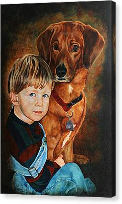 Ryan And Moses Canvas Print