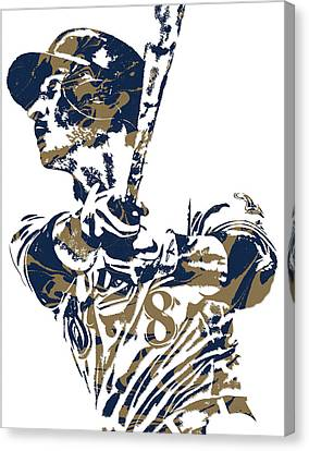 Ryan Braun Milwaukee Brewers Pixel Art 5 Canvas Print