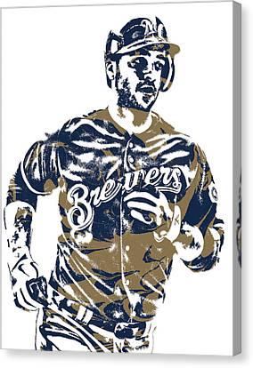 Ryan Braun Milwaukee Brewers Pixel Art 6 Canvas Print
