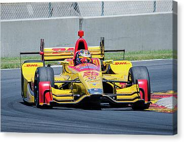 Ryan Hunter-reay Canvas Print by Steven Banker