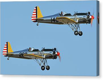 Ryan Pt-22 N48777 146 And Pt-22 N48742 269 Chino California April 29 2016 Canvas Print by Brian Lockett