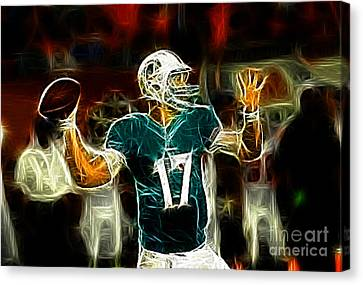 Ryan Tannehill - Miami Dolphin Quarterback Canvas Print by Paul Ward