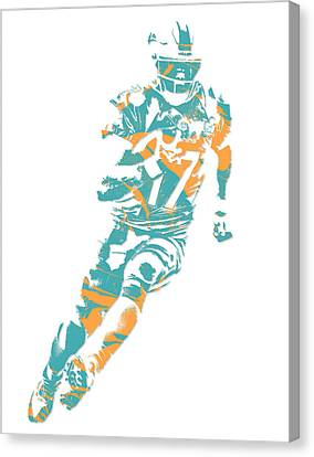 Dolphin Canvas Print - Ryan Tannehill Miami Dolphins Pixel Art 4 by Joe Hamilton