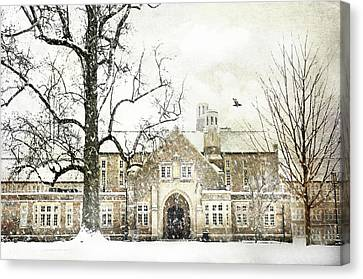 Rye High School Canvas Print by Diana Angstadt