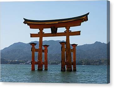 Floating Torii Canvas Print - Ryobu Torii Gate by Teresa Otto
