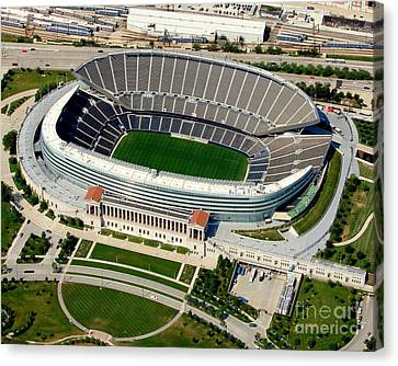 S-004 Soldier Field Close Up Chicago Illinois Canvas Print by Bill Lang