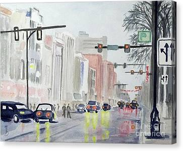 S. Main Street In Ann Arbor Michigan Canvas Print