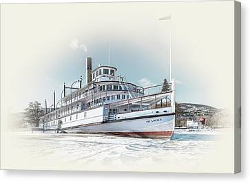 Canvas Print featuring the photograph S. S. Sicamous II by John Poon