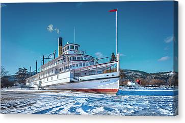 Canvas Print featuring the photograph S. S. Sicamous by John Poon