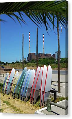 S. Torpes Surfboards Canvas Print by Carlos Caetano