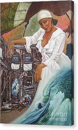 Sabanas Blancas Canvas Print by Jorge L Martinez Camilleri