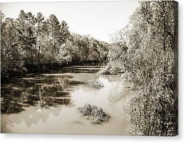 Sabine River Near Big Sandy Texas Photograph Fine Art Print 4081 Canvas Print by M K  Miller