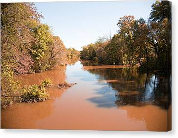 Sabine River Near Big Sandy Texas Photograph Fine Art Print 4084 Canvas Print by M K  Miller