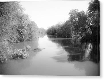 Sabine River Near Big Sandy Texas Photograph Fine Art Print 4085 Canvas Print by M K  Miller