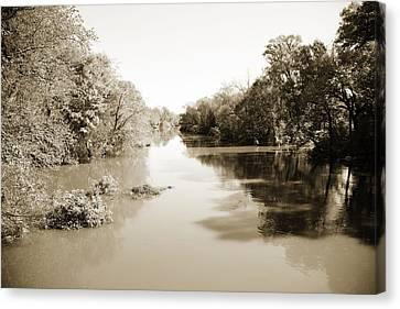 Sabine River Near Big Sandy Texas Photograph Fine Art Print 4086 Canvas Print by M K  Miller