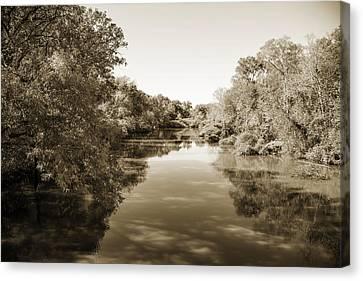Sabine River Near Big Sandy Texas Photograph Fine Art Print 4089 Canvas Print by M K  Miller