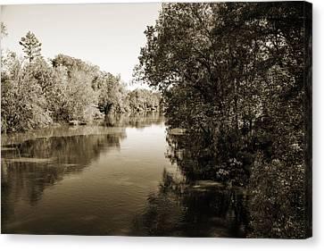 Sabine River Near Big Sandy Texas Photograph Fine Art Print 4092 Canvas Print by M K  Miller