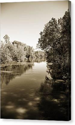 Sabine River Near Big Sandy Texas Photograph Fine Art Print 4095 Canvas Print by M K  Miller