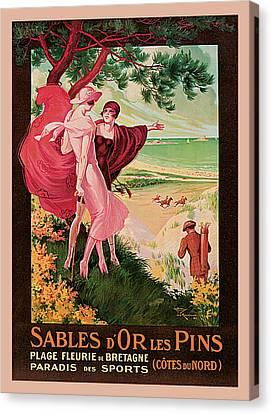 Sables D'or Les Pin Canvas Print