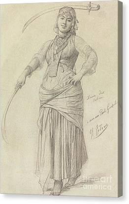 Sabre Dance Canvas Print by Jean Leon Gerome