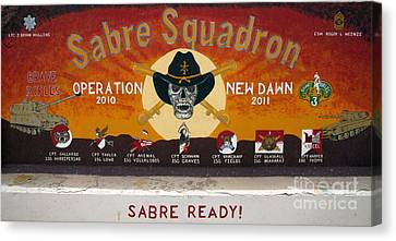 Sabre Squadron - Ond Canvas Print by Unknown