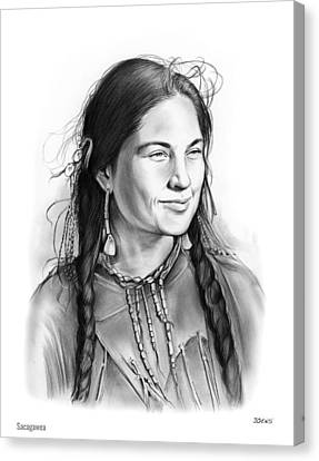 Sacagawea Canvas Print by Greg Joens