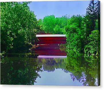 Sachs Covered Bridge - Gettysburg Pa Canvas Print by Bill Cannon