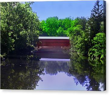 Sachs Covered Bridge In Gettysburg  Canvas Print by Bill Cannon