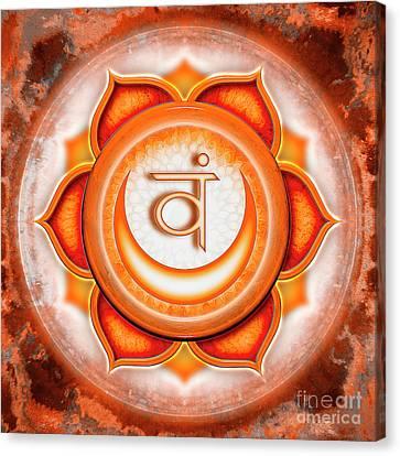 Sacral Chakra - Series 5 Canvas Print by Dirk Czarnota