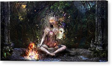 Mushroom Canvas Print - Sacrament For The Sacred Dreamers by Cameron Gray