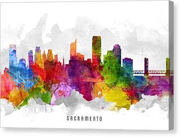 Sacramento California Cityscape 13 Canvas Print