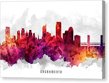Sacramento California Cityscape 14 Canvas Print