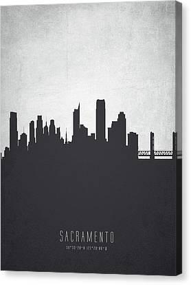 Sacramento California Cityscape 19 Canvas Print by Aged Pixel