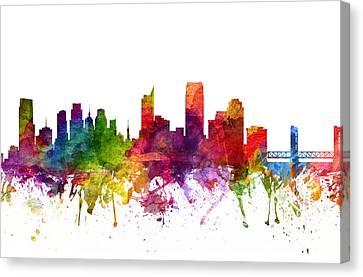 Sacramento Cityscape 06 Canvas Print