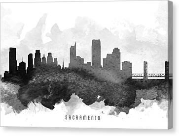 Sacramento Cityscape 11 Canvas Print
