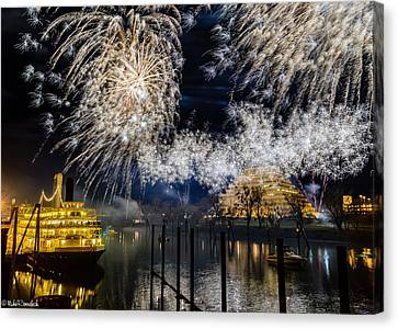 Old Sacramento Canvas Print - Sacramento New Years Eve by Mike Ronnebeck
