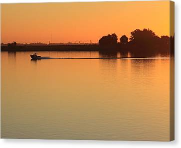 Sacramento River Sunrise Canvas Print by Troy Montemayor
