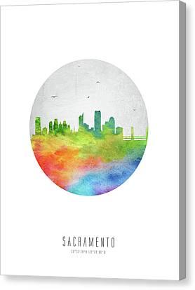 Sacramento Skyline Uscasa20 Canvas Print