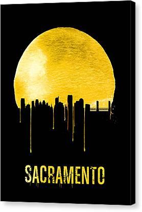 Sacramento Canvas Print - Sacramento Skyline Yellow by Naxart Studio