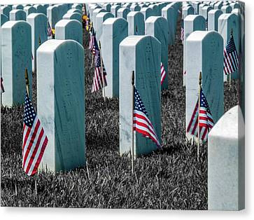 Canvas Print - Sacramento Valley Veterans Cemetary by Bill Gallagher