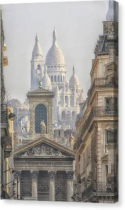 Sacre-coeur  Canvas Print by Catherine Alfidi