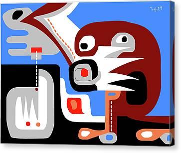 Mayan Mythology Canvas Print - Sacred Cenote by Victor  M Trejo