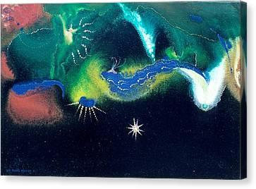 Sacred Dawn Canvas Print by Lee Pantas