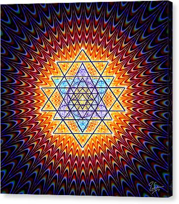 Spiritual Art Canvas Print - Sacred Geometry 141 by Endre Balogh