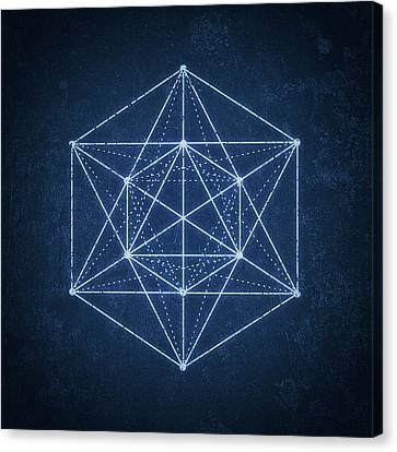 Sacred Geometry  Minimal Hipster Symbol Art Canvas Print by Philipp Rietz