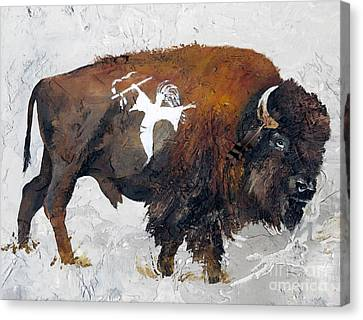 Indigenous Wildlife Canvas Print - Sacred Gift by J W Baker