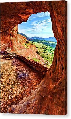 Sacred Ground - Shaman's Cave 2 Canvas Print