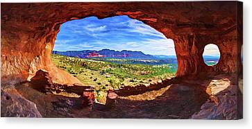 Abeautifulsky Canvas Print - Sacred Ground - Shaman's Cave by ABeautifulSky Photography by Bill Caldwell